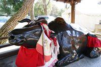 牛の像(北野天満宮)